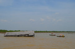 House plunged into the Tonle Sap Stock Photo