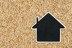 House pointer, the price tag lies on  barley. With space for your text Royalty Free Stock Image
