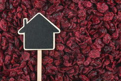 House pointer, the price tag lies on cranberry Stock Images