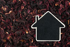 House pointer, the price tag lies on   hibiscus Stock Photography