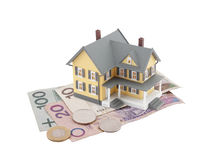 House on polish money Stock Photography