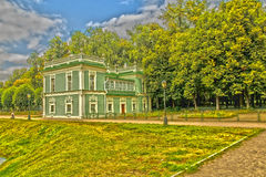 House by the pond. Moscow, Park Museum, historical site Stock Images