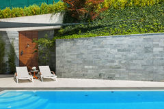 House with pool Stock Images