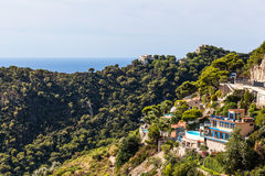 House with pool in the hills on Cote d`Azur, France Royalty Free Stock Photos