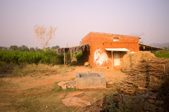 House of poor Indian in province Royalty Free Stock Photography