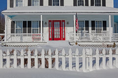 Front Porch In Winter Royalty Free Stock Photography
