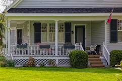 House with a porch stock photography