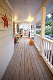 House Porch in Fall Royalty Free Stock Photos