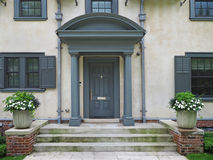 House with portico entrance Royalty Free Stock Photos