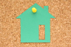 House Post It Note Stock Image