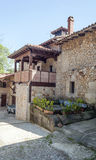 House with pots of Santillana del Mar Royalty Free Stock Images