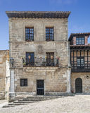 House with pots of Santillana del Mar Stock Photos