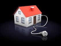 House with power cord Stock Photography