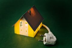 A house with power plug Stock Images