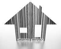 House Price. Generic barcode in shape of a house Stock Images