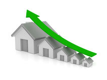 House price increase Royalty Free Stock Photography