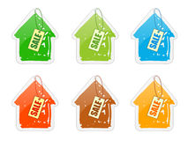 House_with_price-list Stock Image