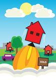 House Price Rocket Stock Photos