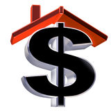 House prices. Isolated illustration showing the cost of a house Stock Image