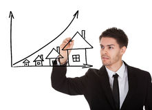 House prices growth concept royalty free stock photo