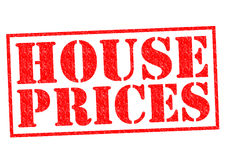 HOUSE PRICES. Red Rubber Stamp over a white background Royalty Free Stock Photo