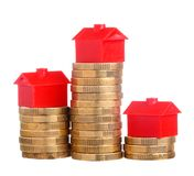 House prices Royalty Free Stock Images