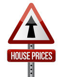 'house prices rise' sign Stock Image
