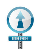 House prices road sign illustration design Royalty Free Stock Image