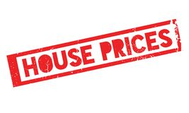 House Prices rubber stamp. Grunge design with dust scratches. Effects can be easily removed for a clean, crisp look. Color is easily changed Stock Image