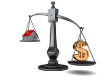 House prices symbol Royalty Free Stock Images