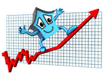 House prices up Royalty Free Stock Photo