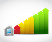 House prices up illustration design Stock Image