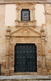 House of the Prior of Saint Bartholomew, Almagro, province of Ciudad Real, Castilla La Mancha, Spain. Facade with large entrance door of the House of the  Prior Stock Image