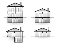 House profile Royalty Free Stock Photography