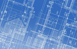 House Project Blueprint Royalty Free Stock Image