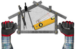 House Project Concept - Metal Meter Stock Photo