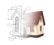 House project moves into the picture. The concept of interactive Stock Photo