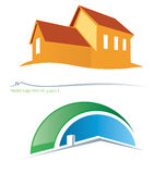 House project 1. Two variants  house symbols Royalty Free Stock Photo