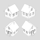 House project vector black and white sketch Royalty Free Stock Image