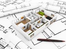 House projektet stock illustrationer
