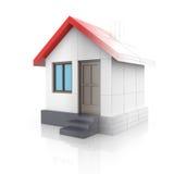 House projektet Att dra vänder in i modellen 3d Royaltyfri Bild