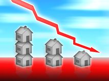 House property value down. Illustration concept Stock Image