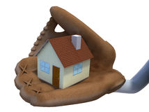 House protected by baseball glove Stock Photo