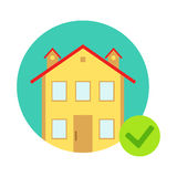 House Protected From Misfortune, Insurance Company Services Infographic Illustration. Vector Icon With Type Of Insurance Helping People To Protect Their Royalty Free Stock Photo