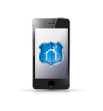 House protection system on phone. Stock Image