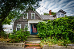 House in Provincetown, Cape Cod, Massachusetts. Stock Images