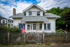 House in Provincetown, Cape Cod, Massachusetts. Stock Photos