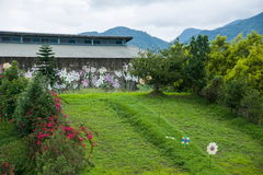 House Puli Township, Nantou County Thao cultural exhibition center next to Stock Image