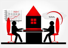 House purchase in mortgage. In bank Stock Photos