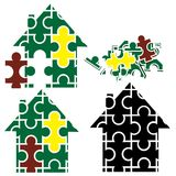 House Puzzle Stock Photography